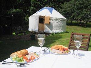 Yurts at Bank End Farm Isle of Wight