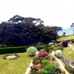 View of Garden and sea at Sentry Mead Hotel
